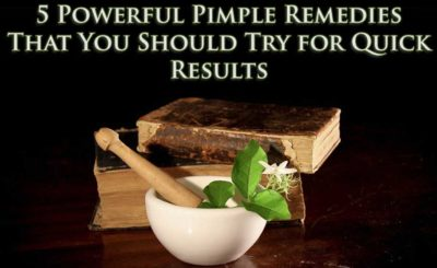 home remedies for pimple